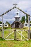 Ξύλινη εκκλησία, νησί Chiloe, Χιλή Στοκ Φωτογραφίες