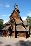 Ξύλινη εκκλησία στο Όσλο Στοκ Φωτογραφία