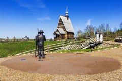 Ξύλινη εκκλησία της αναζοωγόνησης Χριστού στο υποστήριγμα του Levi Στοκ φωτογραφίες με δικαίωμα ελεύθερης χρήσης