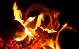ξύλινη θέση πυρκαγιάς στοκ εικόνα