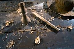Ξύλινη διακόσμηση τεμαχίων για τη διακόσμηση shisha σε ένα ξύλινο υπόβαθρο Στοκ Εικόνα