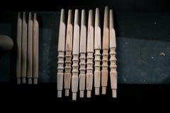 Ξύλινη διακόσμηση τεμαχίων για τη διακόσμηση shisha σε ένα ξύλινο υπόβαθρο Στοκ φωτογραφίες με δικαίωμα ελεύθερης χρήσης