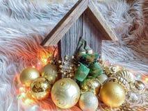 Ξύλινη διακόσμηση Χριστουγέννων Στοκ εικόνα με δικαίωμα ελεύθερης χρήσης