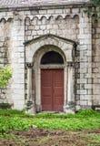 Ξύλινη διπλή πόρτα με τις στήλες πετρών, Ιερουσαλήμ Στοκ φωτογραφία με δικαίωμα ελεύθερης χρήσης
