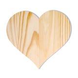 Ξύλινη καρδιά Στοκ φωτογραφίες με δικαίωμα ελεύθερης χρήσης