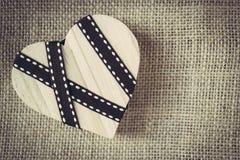 Ξύλινη καρδιά Στοκ Εικόνες