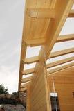 Ξύλινη κατασκευή στεγών σπιτιών Στοκ εικόνες με δικαίωμα ελεύθερης χρήσης