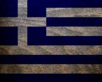Ξύλινη κατασκευασμένη σημαία - Ελλάδα Στοκ Φωτογραφία