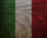 Ξύλινη κατασκευασμένη σημαία - Ιταλία Στοκ Εικόνα