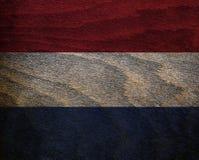 Ξύλινη κατασκευασμένη σημαία - Κάτω Χώρες Στοκ Εικόνες
