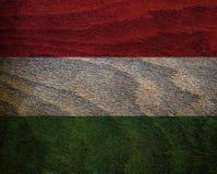 Ξύλινη κατασκευασμένη σημαία - Ουγγαρία Στοκ Φωτογραφία