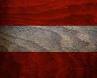 Ξύλινη κατασκευασμένη σημαία της Αυστρίας Στοκ εικόνα με δικαίωμα ελεύθερης χρήσης