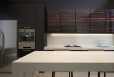 Ξύλινη κουζίνα Στοκ εικόνες με δικαίωμα ελεύθερης χρήσης