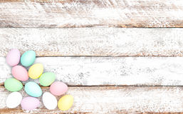 Ξύλινη κρητιδογραφία υποβάθρου διακοσμήσεων αυγών Πάσχας μαλακή Στοκ Εικόνα