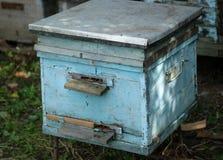 Ξύλινη κυψέλη στο μελισσουργείο Στοκ φωτογραφία με δικαίωμα ελεύθερης χρήσης