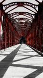 ξύλινη κόκκινη γέφυρα Στοκ φωτογραφία με δικαίωμα ελεύθερης χρήσης