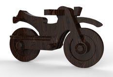 Ξύλινη μοτοσικλέτα ξύλων καρυδιάς Στοκ Εικόνα
