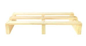 Ξύλινη μπροστινή άποψη παλετών που απομονώνεται στο άσπρο υπόβαθρο στοκ εικόνες με δικαίωμα ελεύθερης χρήσης