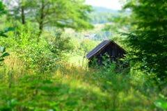 Ξύλινη οικοδόμηση των χωρικών Στοκ φωτογραφία με δικαίωμα ελεύθερης χρήσης