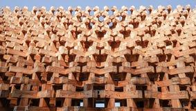 Ξύλινη δομή φραγμών της πρόσοψης τοίχων Στοκ φωτογραφίες με δικαίωμα ελεύθερης χρήσης