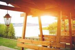 Ξύλινη πέργκολα Στοκ Φωτογραφία