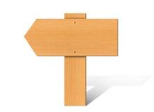 Ξύλινη πινακίδα διανυσματική απεικόνιση