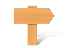 Ξύλινη πινακίδα ελεύθερη απεικόνιση δικαιώματος