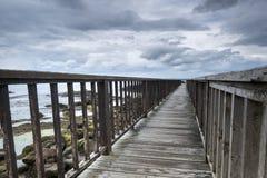 Ξύλινη πορεία στην ιρλανδική παραλία Στοκ εικόνες με δικαίωμα ελεύθερης χρήσης