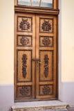 Ξύλινη πόρτα στο Ταλίν Στοκ Φωτογραφία