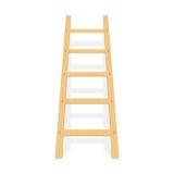 Ξύλινη σκάλα με το διάνυσμα σκιών Στοκ Εικόνα