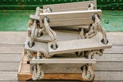 Ξύλινη σκάλα Στοκ Φωτογραφίες