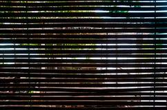 Ξύλινη σκιαγραφία κουρτινών Στοκ Εικόνα