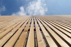 Ξύλινη σύγχρονη προοπτική προσόψεων Στοκ Εικόνα