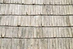 Ξύλινη σύσταση βοτσάλων στεγών Στοκ Φωτογραφία