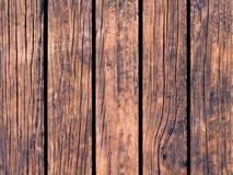 Ξύλινη σύσταση με τις κάθετες γραμμές Θερμό καφετί ξύλινο υπόβαθρο για το φυσικό έμβλημα Στοκ Εικόνες