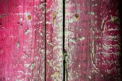 Ξύλινη σύσταση με το ραγισμένο χρώμα Στοκ Φωτογραφία