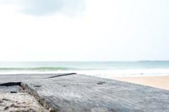 Ξύλινη σύσταση στη θάλασσα Στοκ φωτογραφία με δικαίωμα ελεύθερης χρήσης