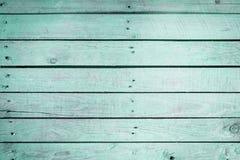 Ξύλινη σύσταση υποβάθρου Aquamarine Στοκ Εικόνες