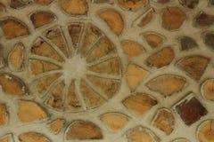 Ξύλινη τέχνη τοίχων κούτσουρων Στοκ Εικόνες