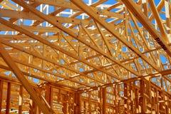 Ξύλινη τεχνολογία σκελετών σπιτιών, παραδοσιακός, αστική, τοίχος Στοκ Εικόνες