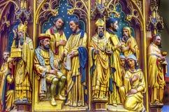 Ξύλινη Church Figures de Krijtberg Church Άμστερνταμ Κάτω Χώρες Στοκ εικόνες με δικαίωμα ελεύθερης χρήσης