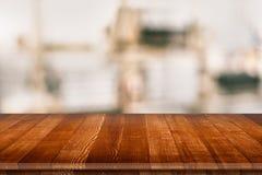 Ξύλινη tabletop προοπτική για την τοποθέτηση προϊόντων Στοκ Εικόνες