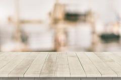 Ξύλινη tabletop προοπτική για την τοποθέτηση προϊόντων Στοκ Εικόνα