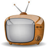 Ξύλινη TV Στοκ φωτογραφίες με δικαίωμα ελεύθερης χρήσης