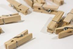 Ξύλινοι γόμφοι ενδυμάτων Στοκ Φωτογραφίες