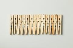 Ξύλινοι γόμφοι ενδυμάτων Στοκ φωτογραφία με δικαίωμα ελεύθερης χρήσης