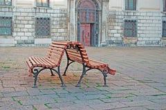 Ξύλινοι πάγκοι Στοκ εικόνες με δικαίωμα ελεύθερης χρήσης