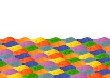 Ξύλινοι πολύχρωμοι λογαριασμένοι κυματιστοί πίνακες Στοκ Εικόνα