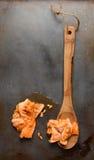 Ξύλινοι σπόροι πεπονιών κουταλιών στοκ εικόνες