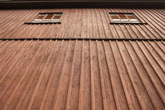 Ξύλινοι τοίχος και παράθυρο Στοκ Εικόνα